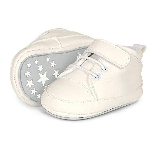 Sterntaler Unisex Baby-Krabbelschuhe mit Klettverschluss, Weiß (weiß 500), Gr. 17/18