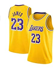 Zxwzzz Los Angeles Lakers No.23 Uniforme di Basket, Lebron James Estate Sports NBA Jersey, Adulti E Divise da Basket for Bambini, Pallacanestro Jersey Top