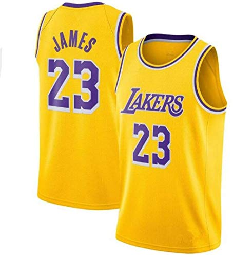 Zxwzzz Uniforme Los Angeles Lakers No.23 Baloncesto, Lebron James Summer Sports NBA Jersey, Adulto Y Uniformes De Baloncesto De Los Niños, Baloncesto Jersey Gran (Color : Yellow, Size : Small)