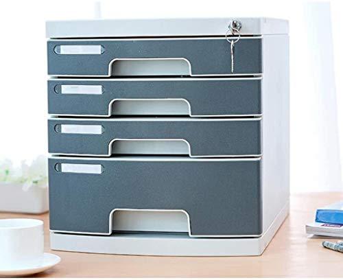 Organizador para el Escritorio Gabinete de Escritorio gaveta de Almacenamiento con el Bloqueo de Archivos Organizador Oficina plástico Caja de Almacenamiento Caja de Almacenamiento de Carpetas