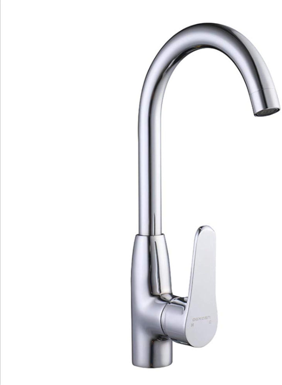 Basin Taps Swivel Spout Faucet Copper Household Kitchen Faucet Splash-Proof Vegetable Pot Cold and Hot Water Faucet