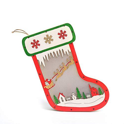 Enfei Cute Christmas Decoration Santa Claus Funda para Asiento de Inodoro decoraci/ón de Navidad