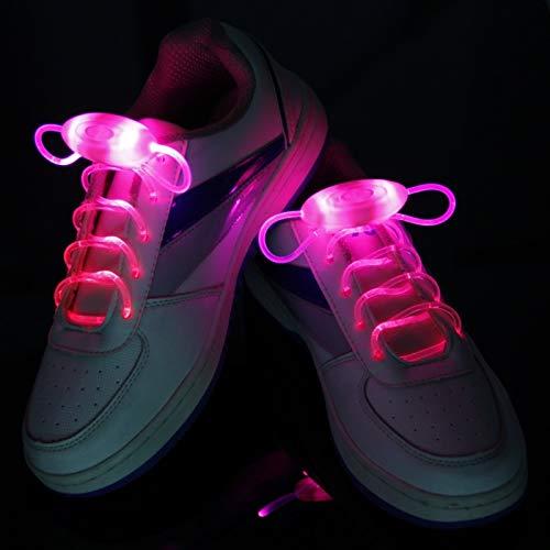 HALS 1 par 120cm Manera LED Luminoso, cordón Juguetes Accesorios Glow In The Dark Mejora la Habilidad Manipulador Regalo Juguetes (Color : LED Pink)