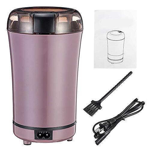 LWQ 400W elektrische Kaffeemühle, Espressomühle Küche Salz Pfeffer Grinder Bohnen Gewürze Nüsse Samen Kaffee Grinding Crocus-Maschine,Lila