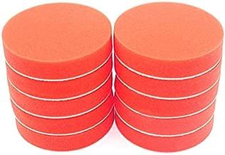 AJIAMA 10Pc 180Mm 7 Pulgadas Esponja Plana Kit de Almohadilla de Pulido Bruto Pulido para Pulidora de AutomóViles Encerado Limpio Cuidado de Mantenimiento de Pintura AutomáTica