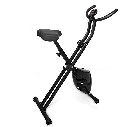 himaly F-Bike Advanced Heimtrainer,Unisex Sport Fitnessfahrrad Heimtrainer Fitnessbike,Klappbarer Hometrainer, Verstellbare Widerstandsstufen,LCD-Display,für Sportler und Senioren
