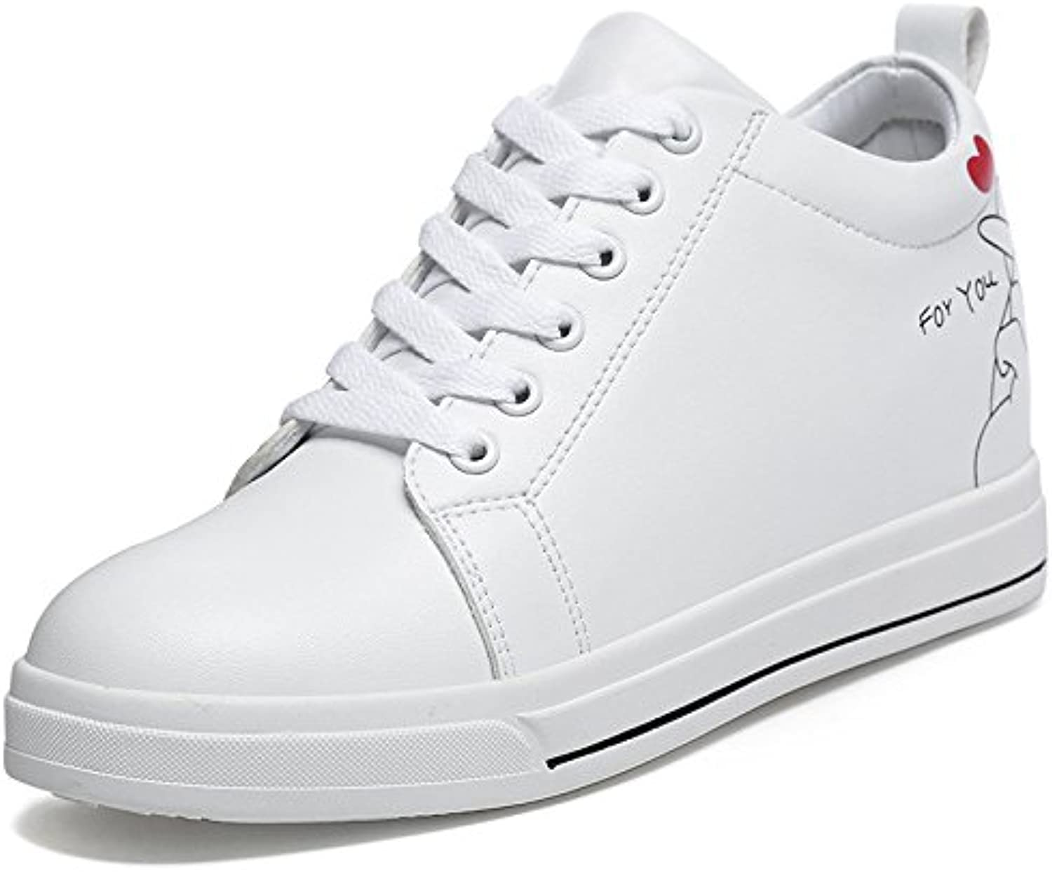 Thick casual shoes white shoes thick wild Korean students small yards