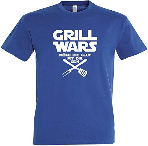 Herren T-Shirt Grill Wars Möge die Glut mit dir Sein S bis 5XL (3XL, Royalblau)