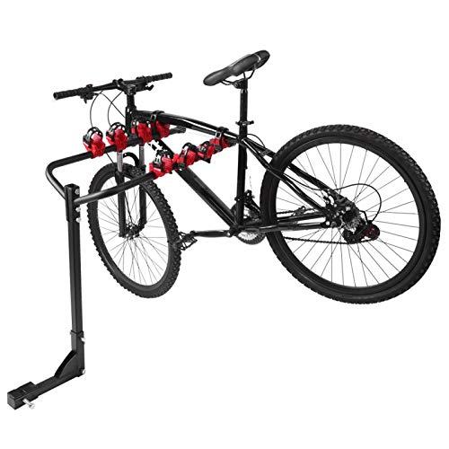 DAUERHAFT Portabicicletas Plegable para Coche, 4 plazas, portabicicletas para Coche, para Bicicleta, para Varios tamaños de Cuadros y diseños de Bicicletas