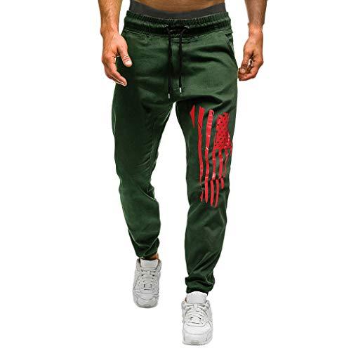 manadlian Homme Pantalon Jogging Pants de Sport Longs Pants Bas de Survêtement Sweat Pants Sarouel Sport Slim Ceinture Élastique Sweatpants Travail Trouser Hommes Pantalon de Sport