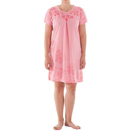Romesa Nachthemd - Stickerei und Druck, Größe XXL, rosa