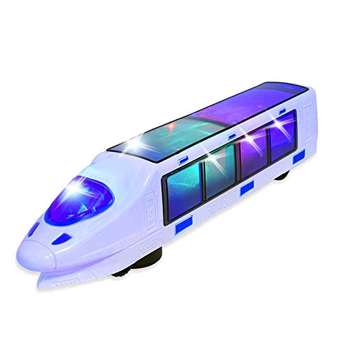 Electric Train Toy with Action Flashing Lights - Battery Powered. 3D Effect (Ages 3 yrs and up)