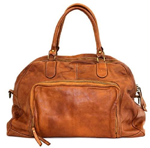 BZNA Bag Camilla cognac Italy Designer Weekender Damen Handtasche Schultertasche Tasche Schafsleder Shopper Neu