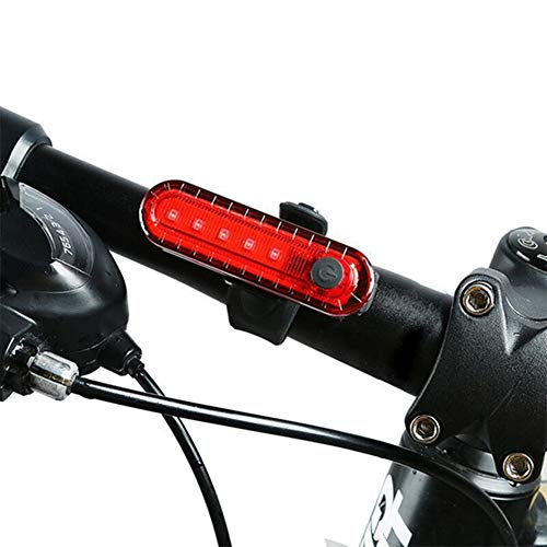 Luz Led Bicicleta Luz Bicicleta Trasera Ciclo de luz Led Trasero de la Bicicleta Luces Led Bicicleta Luz Led Ciclo Luz Trasera de Bicicleta USB Red,Freesize