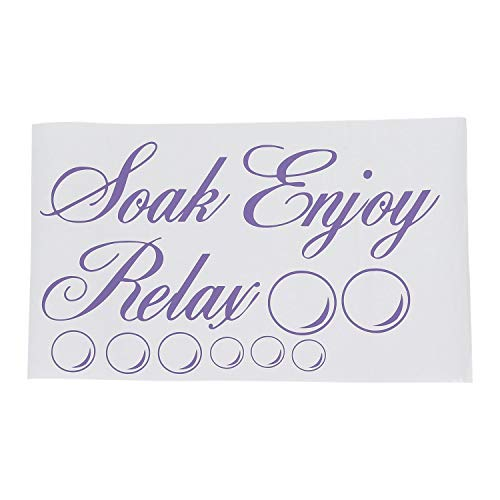 Kirmax SOAK Relax Enjoy Adhesivo de Pared para Ba?O CalcomaníA de PVC DecoracióN para el Hogar: Azul
