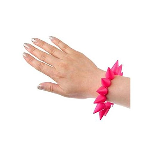 5starwarehouse® Pink Spike Punk Rock armband sieraden cadeau voor hem haar Stocking Filler A365