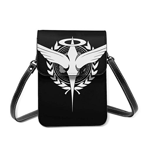 XCNGG Kleine Geldbörse Anime Mobile Suit Gundam Cell Phone Purse Crossbody Bags Women Men Teen Small Wallet With Removable Shoulder Strap