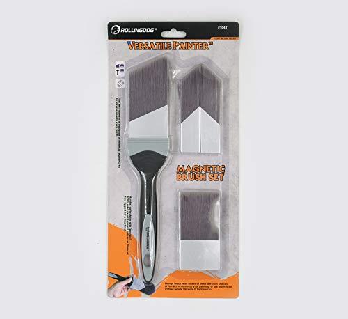ROLLINGDOG Veelzijdige Painter Combinatie Hoofden Penseel Set met Fijn Getipt 100% SRT Synthetische Filament