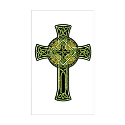CafePress Celtic Cross Rectangle Bumper Sticker Car Decal