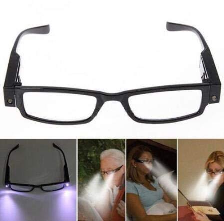 BigBig Style Gafas de Lectura con Montura con Luz Led Hombres Mujeres Anteojos Gafas Dormitorio Protección para Los Ojos