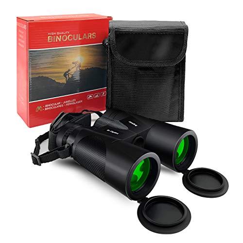 UUCOLOR Fernglas 12x42 HD Kompaktfernglas für Vogelbeobachtung, Wandern, Jagd, Sightseeing, FMC-Linse Feldstecher inkl. Tragetasche, Tragegurt und Gebrauchsanweisung