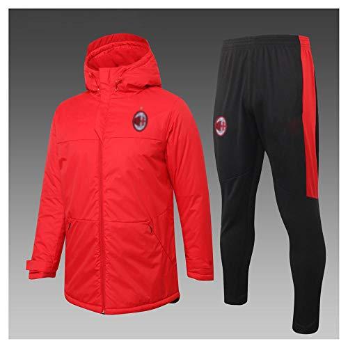 caijj Neue Herren Fußballuniform Geschenk Baumwolle Kleidung Fußball kältesicher Fußballfan kältesicher Anzug Fußball Hoodie männlich-B19-XL