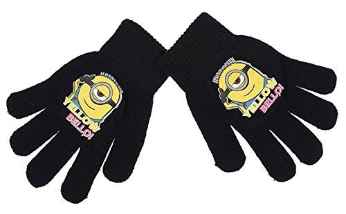 Handschuhe Kinder Mädchen die Minions 4Farben Einheitsgröße (3/8ans) schwarz schwarz einheitsgröße