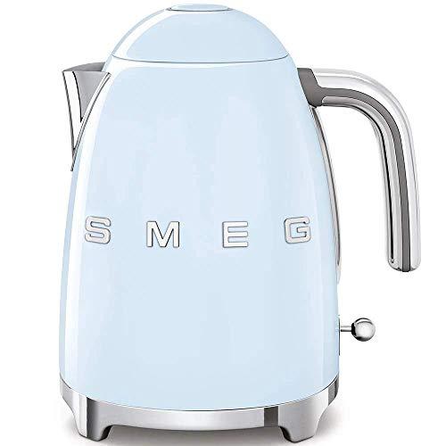 Smeg Bollitore Elettrico KLF03PBEU, 7 Cups, Plastica/Acciaio Inossidabile, Blu Pastello