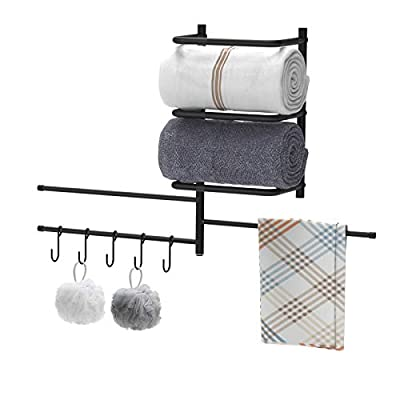 Towel Rack HolderOrganizer,Wall Mounted Metal B...