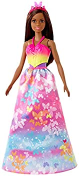 Barbie Dreamtopia Dress Up Doll Gift Set approx 12-inch Brunette with 3 Fashions