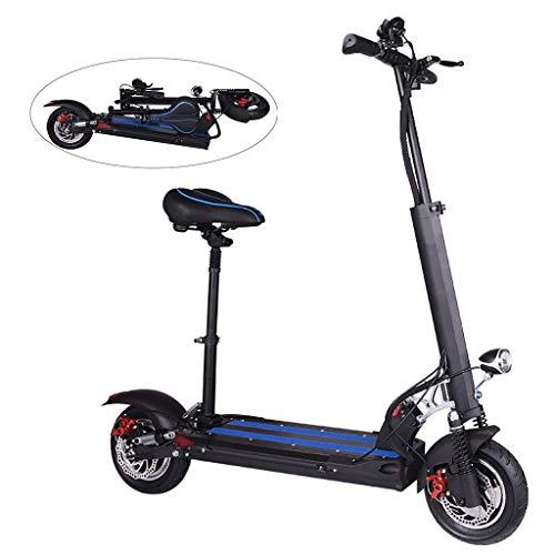 Eléctrico Scooter,Patinete Scooter Eléctrico Inteligente de Alta Potencia de 500W,Batería de Largo...