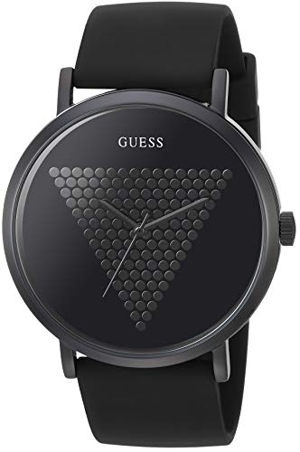 GUESS Iconic Studded Black Logo Silicone...