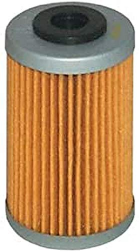 Hiflofiltro HF655 Premium Oil Filter, Black, Single