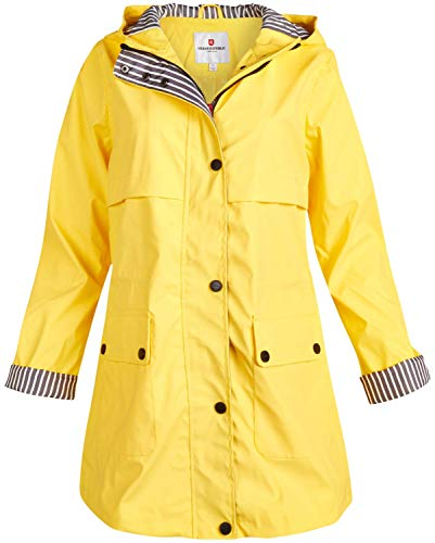 ladies hooded raincoat - 1