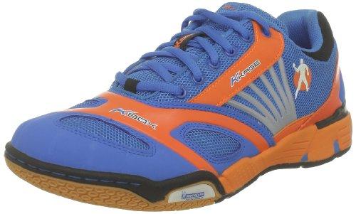 Kempa Cyclone 200847301, Unisex-Erwachsene Handballschuhe, Blau (kempablau/fluo orange/sch), EU 44 (UK 7)