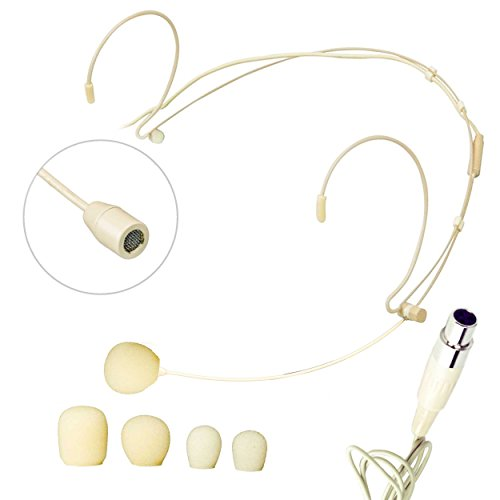 Nady HM-10 Mini Headworn Condenser Microphone, Beige