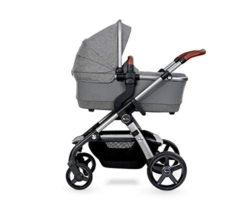 Silver Cross Wave 2020 Fully Adjustable 2-In-1 Tandem Baby Pram and Pushchair, Converts From Single to Double Buggy – Zinc