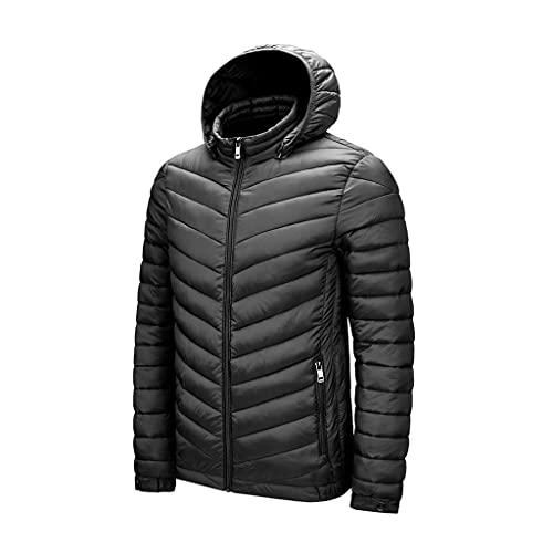 SCDZS Abrigos de cuello con capucha para hombre ultraligero para otoño e invierno chaquetas cortavientos para hombre (color : D, tamaño: XL)