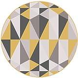 Cqq tapis Tapis géométriques de la Mode Moderne et Simple Nordique Salon avec Tapis Rond Matelas Matelas Matelas Peut être lavé (Couleur : C, Taille : Diameter 80CM)