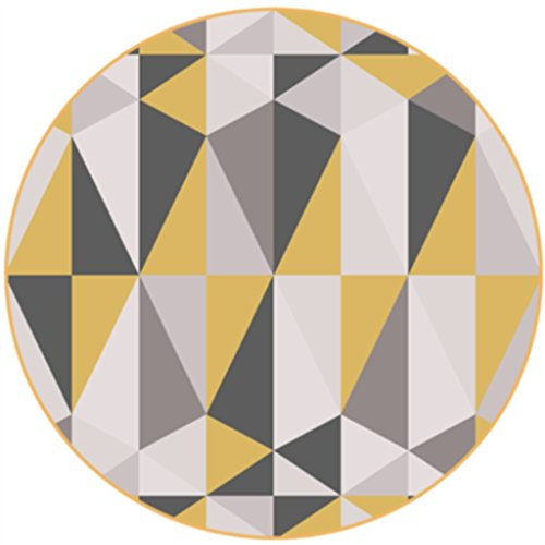 Carpeto Rugs Tapis Rond Salon Beige 100 x 100 cm Moderne Bordures//Nordic Collection