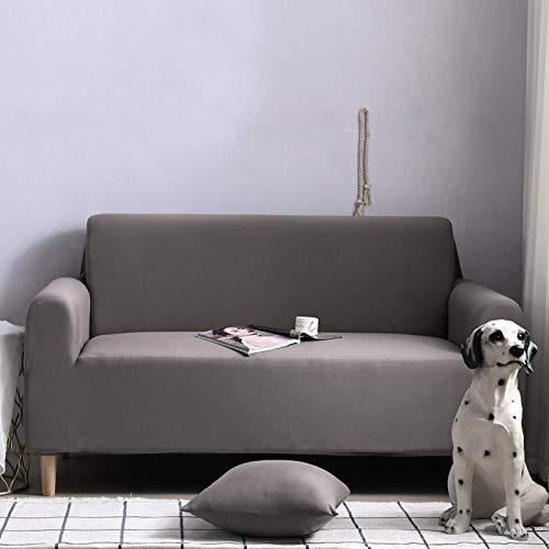 HXTSWGS Funda de sofá con Jacquard,Funda elástica para sofá, Taburete para Silla, Funda para Muebles, Funda para sofá-Gris Plateado_235-300cm