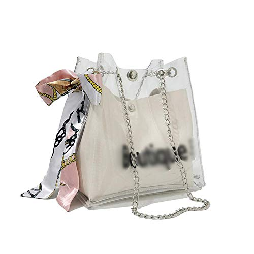 2019 version of the bag sweet scarf transparent features small fresh mother-in-law multi-function back,White