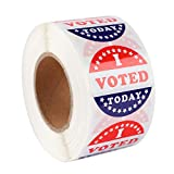 'I Voted Today' Stickers 1.5 Inch 500pcs Safe Adhesive Stickers