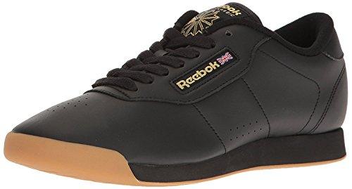 Reebok Princess, sneakers da donna, Nero (Nero/Nero/Nero), 38.5 EU