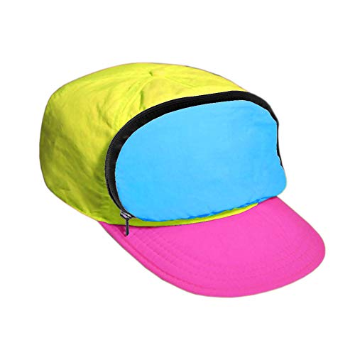Fanny Pack Hat Nylon| 80s/90s Cap for Men | Retro Cap for Women |Zipper Pocket