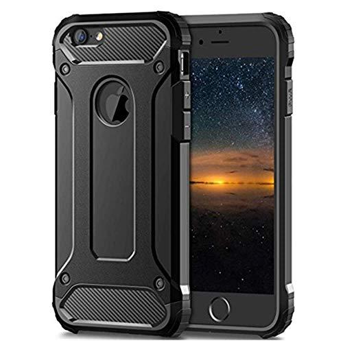 Funda compatible con iPhone 6S, carcasa rígida y fina, resistente a los arañazos, de silicona suave, elegante, antihuellas dactilares, para iPhone 6S Negro Talla única