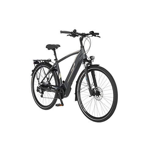 FISCHER Herren - Trekking E-Bike VIATOR 5.0i, Elektrofahrrad, schiefergrau matt, 28 Zoll, RH 50 cm, Brose Drive C Mittelmotor 50 Nm, 36 V Akku im Rahmen