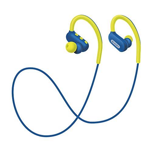 Zolimx Cuello Colgante Bajo en La Oreja Controlado Sonido Auriculares Auriculares con Micrófono y Cable, Graves y Control de Volumen