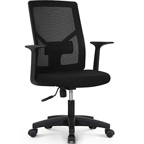 NEO CHAIR Office Chair Computer Desk Chair Gaming  Bulk Business Ergonomic Mid Back Cushion Lumbar Support Wheels Comfortable Black Mesh Racing Seat Adjustable Swivel Rolling Executive