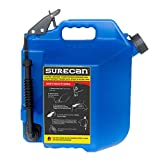 Surecan 5 Gallon 19 Liter Self Venting Kerosene Fuel Can w/Rotating Spout, Blue